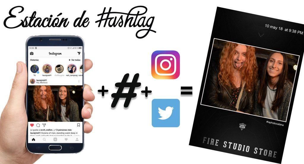 Impresión de fotos con hashtag